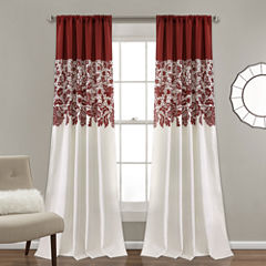 Lush Decor Estate Garden Print 2-Pack Room Darkening Curtain Panel