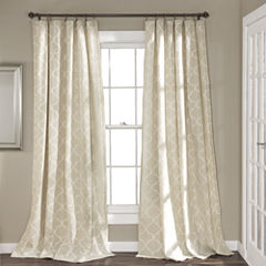 Lush Decor Geo Trellis 2-Pack Curtain Panel