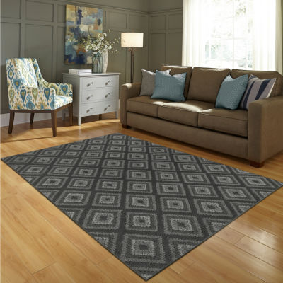 jcpenney home diamond washable rectangular rug - Washable Rugs