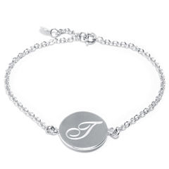 Sparkle Allure Womens 7 Inch Silver Over Brass Link Bracelet
