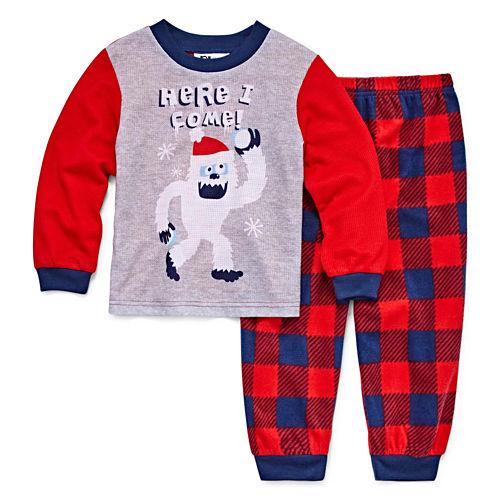 Yeti 2 Piece Pajama Set - Toddler Boys
