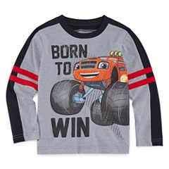 Short Sleeve Crew Neck T-Shirt-Toddler Boys