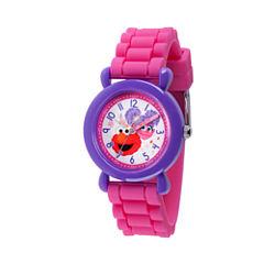 Sesame Street Girls Pink Strap Watch-Wss000037