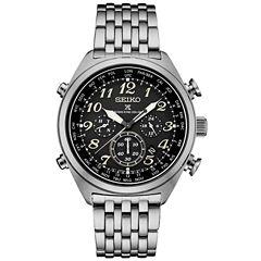 Seiko Prospex Solar Chronograph Mens Silver Tone Bracelet Watch-Ssg017