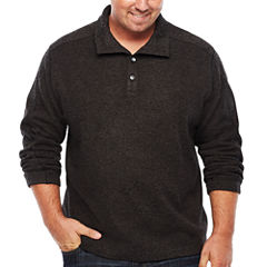 Van Heusen Mock Neck Long Sleeve Layered Sweaters Big and Tall