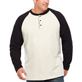 The Foundry Big & Tall Supply Co. Long Sleeve Henley Shirt-Big and Tall