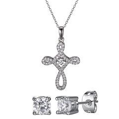 Diamonart Womens 2-pc. White Cubic Zirconia Jewelry Set