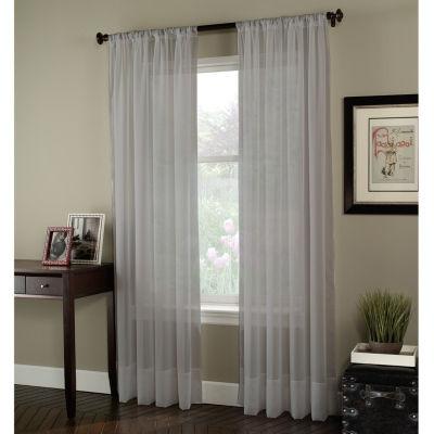 soho rodpocket sheer curtain panel
