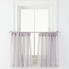 MarthaWindow™ Voile Rod-Pocket Window Tiers