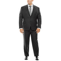Collection by Michael Strahan Black Herringbone Suit- Big and Tall
