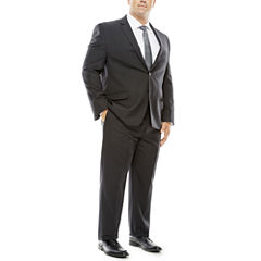 Collection by Michael Strahan Striped Black Suit Separates - Big & Tall