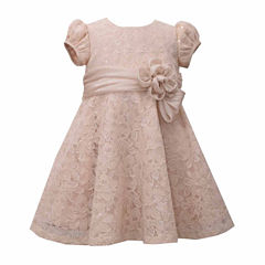 Bonnie Jean Short Sleeve A-Line Dress - Baby Girls