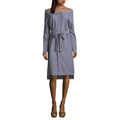 Renn Long Sleeve Shirt Dress