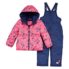 Pink Platinum Heavyweight Snow Suit-Preschool Girls