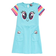 Short Sleeve Cap Sleeve My Little Pony A-Line Dress - Big Kid Girls