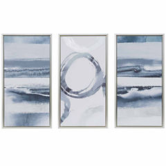 Madison Park Grey Surrounding Printed Canvas 3 Pc Set