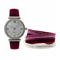 Mixit Womens Red Strap Watch-Jcp2997sts