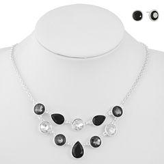 Liz Claiborne Womens 2-pc. Black Jewelry Set