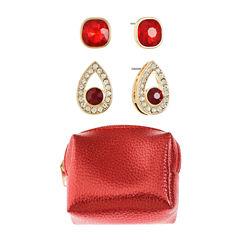 Liz Claiborne Red Stud Earrings