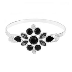 Liz Claiborne Womens Black Bangle Bracelet