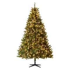 North Pole Trading Co. 7 1/2 Foot Linden Pre-Lit Christmas Tree