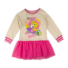 Disney by Okie Dokie Short Sleeve Rapunzel A-Line Dress - Toddler Girls