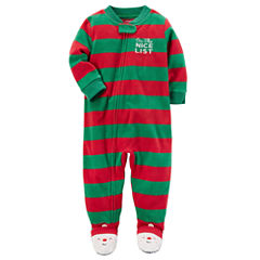 Carter's Christmas Long Sleeve One Piece Pajama-Baby Boys