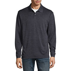 Haggar Long Sleeve Poly Polo Shirt