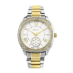 Geneva Womens Two Tone Bracelet Watch-Pt2271slgd