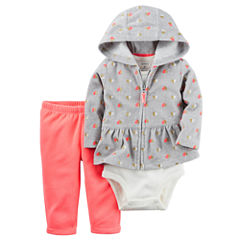 Carter's 3-pc. Pattern Pant Set Baby Girls