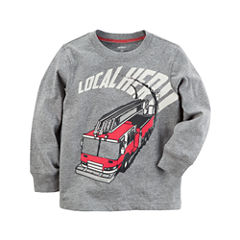 Carter's Long Sleeve Crew Neck T-Shirt-Baby Boys
