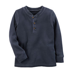 Carter's Long Sleeve Henley Shirt - Toddler Boys