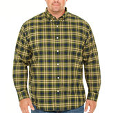 The Foundry Big & Tall Supply Co. Long Sleeve Plaid Button-Front Shirt-Big and Tall