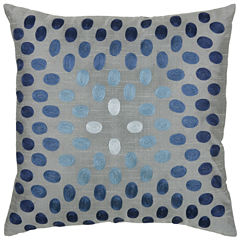 Rizzy Home Embroidered Dots Square Throw Pillow