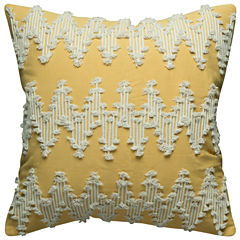 Rizzy Home Frayed Chevron Square Throw Pillow