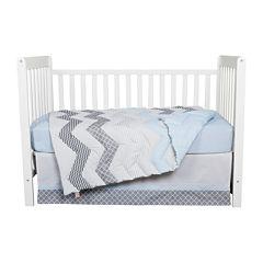 Trend Lab® 3-pc. Blue Taffy Crib Bedding Set