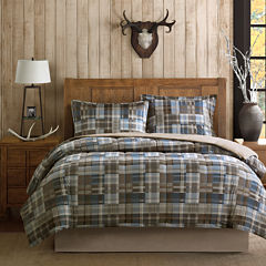Woolrich White River Softspun Down-Alternative Plaid Comforter Set