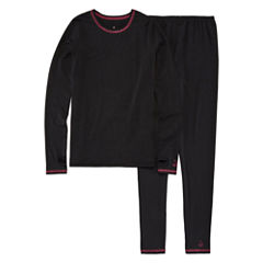 Cuddl Duds® 2-pc. Black Solid Pajama Set - Girls 4-16