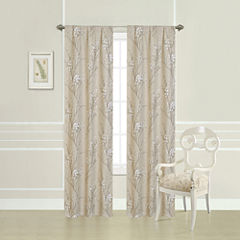 Laura Ashley® Taupe Willow Printed Rod-Pocket 2-Pack Curtain Panels
