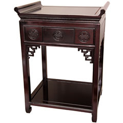 Oriental Furniture Rosewood Altar Console Table