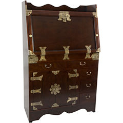 Oriental Furniture Korean Antique Style Drop LeafDesk