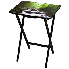Oriental Furniture River Of Life TV Tray Table