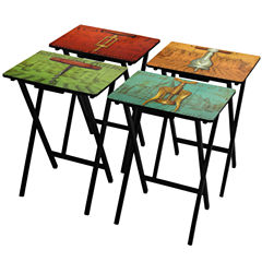 Oriental Furniture Vineyards Of France TV Tray Table
