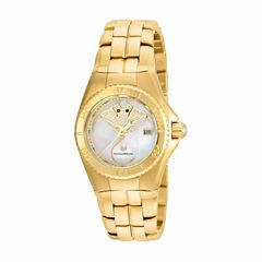 Techno Marine Womens Gold Tone Bracelet Watch-Tm-115189