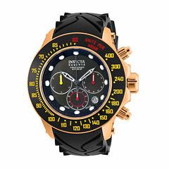 Invicta Mens Black Strap Watch-22142