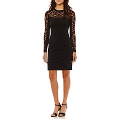 Rebecca B Lace Long Sleeve Bodycon Dress