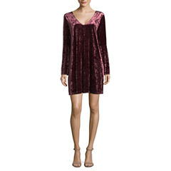 a.n.a Bell Sleeve Velvet Dress