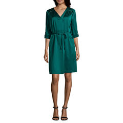 Worthington 3/4 Sleeve Shirt Dress