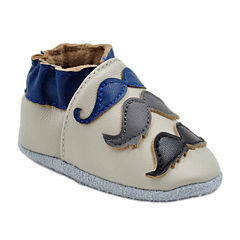 Soft Sole Leather Crib Bootie Baby Shoes - Mustache Galore