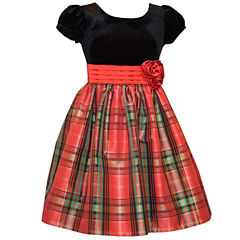 Bonnie Jean Short Sleeve Cap Sleeve Party Dress - Big Kid Girls Plus